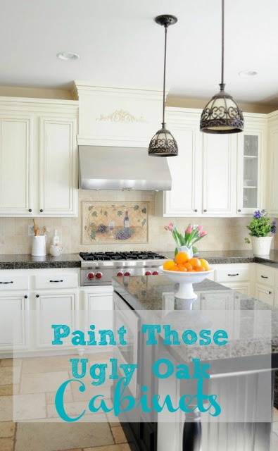 Don't buy new, save thousands of dollars and paint those dated oak cabinets!