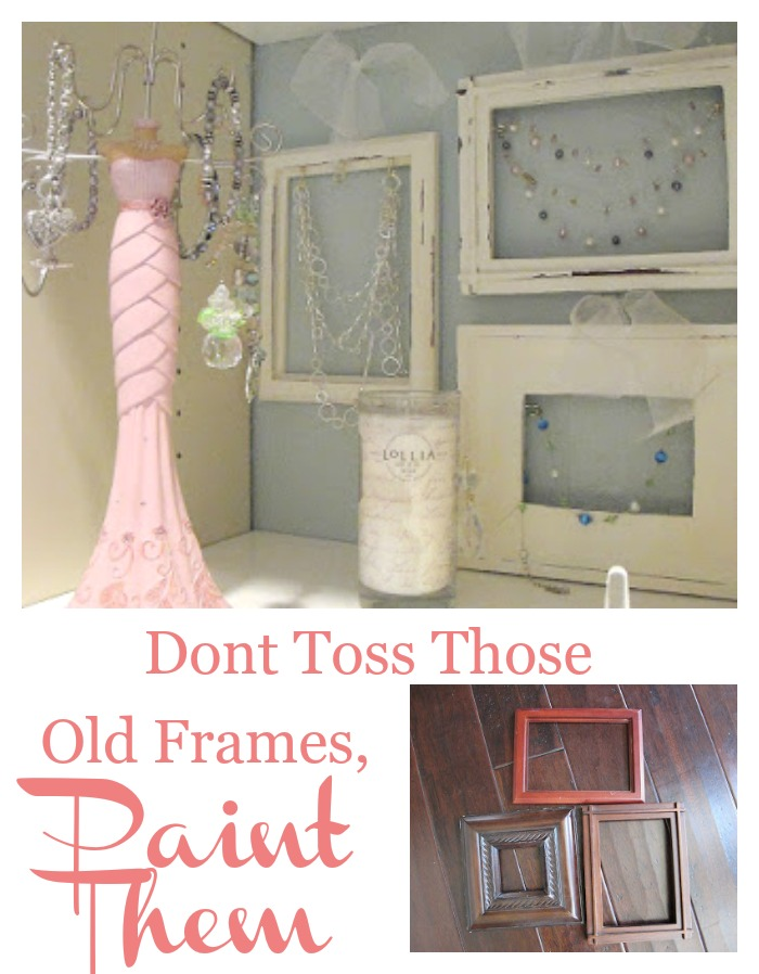Don't toss those old frames paint them