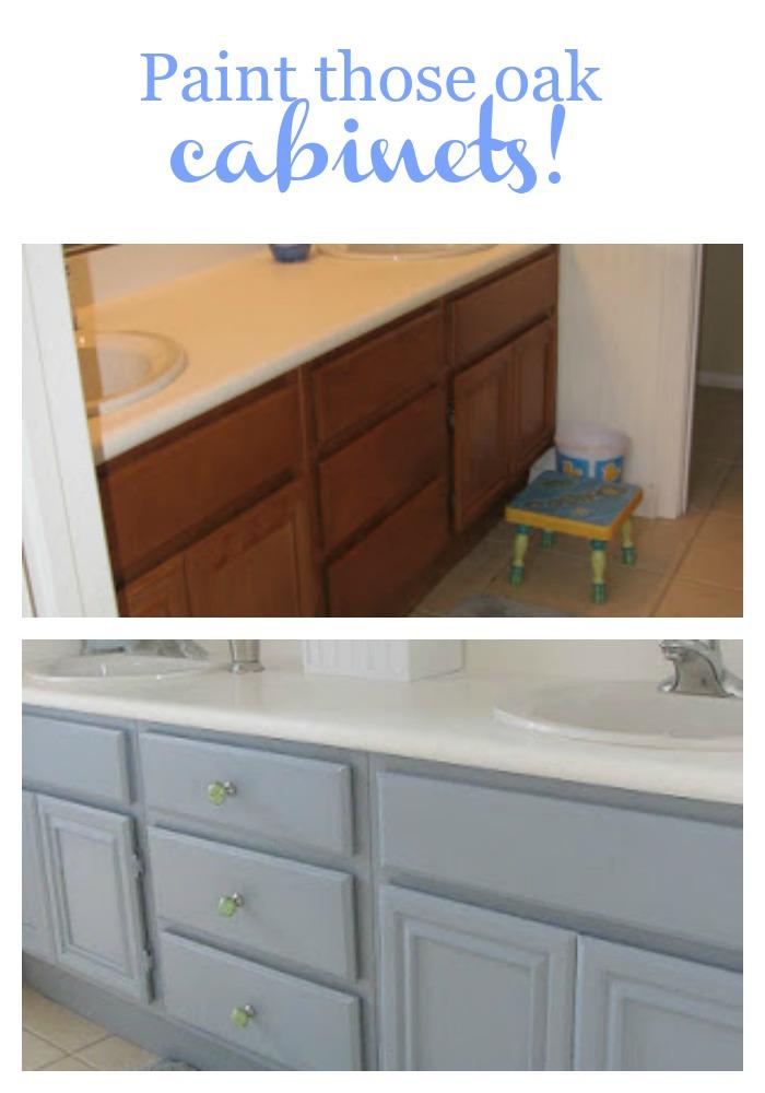 Paint those oak cabinets