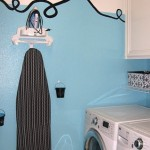 Our Tiffany Blue Laundry Room