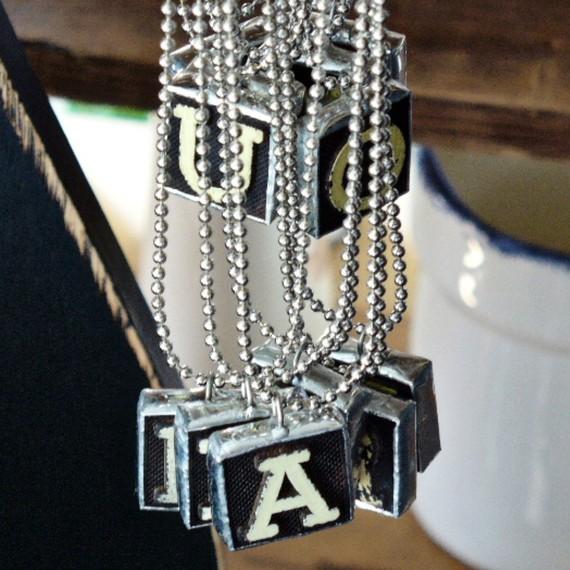 vintage letter necklace