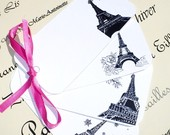 Paris Gift Tags- Eiffel Tower Table Numbers Four Seasons Gift Tag Set Table Number Decorations Place Cards Bookmarks Parties Weddings Events Shower Spring Summer Autumn Fall Winter Parisian Chic Roses Tree Blossom Branch Snowflakes Noel Christmas in Paris