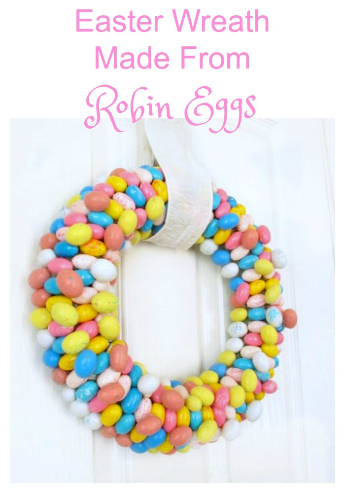 Learn how to make this adorable easter wreath made from Robin's eggs