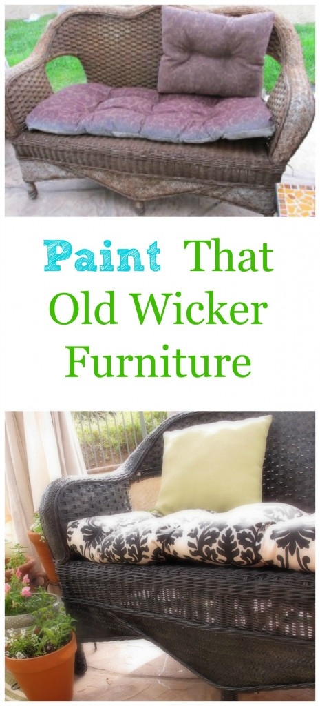 Paint that old wicker futniture