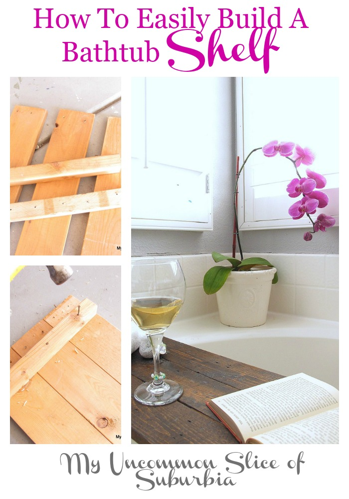 How to easily build a bathtub shelf