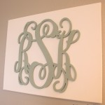 DIY Monogrammed Canvas Art
