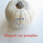 Blinged out pumpkin