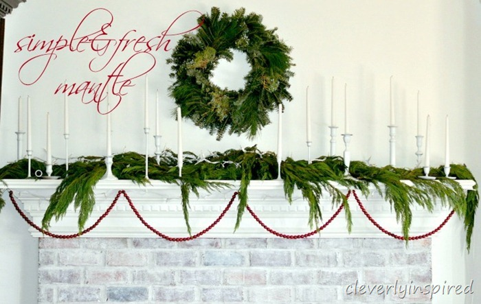christmas mantle 2012 (decorating a holiday mantle) @cleverlyinspired (12) cv