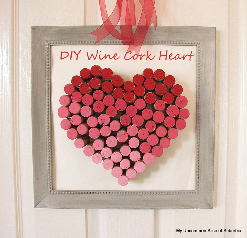 Wine Cork Heart, crafts, kids crafts, Valentine crafts, myuncommonsliceofsuburbia.com