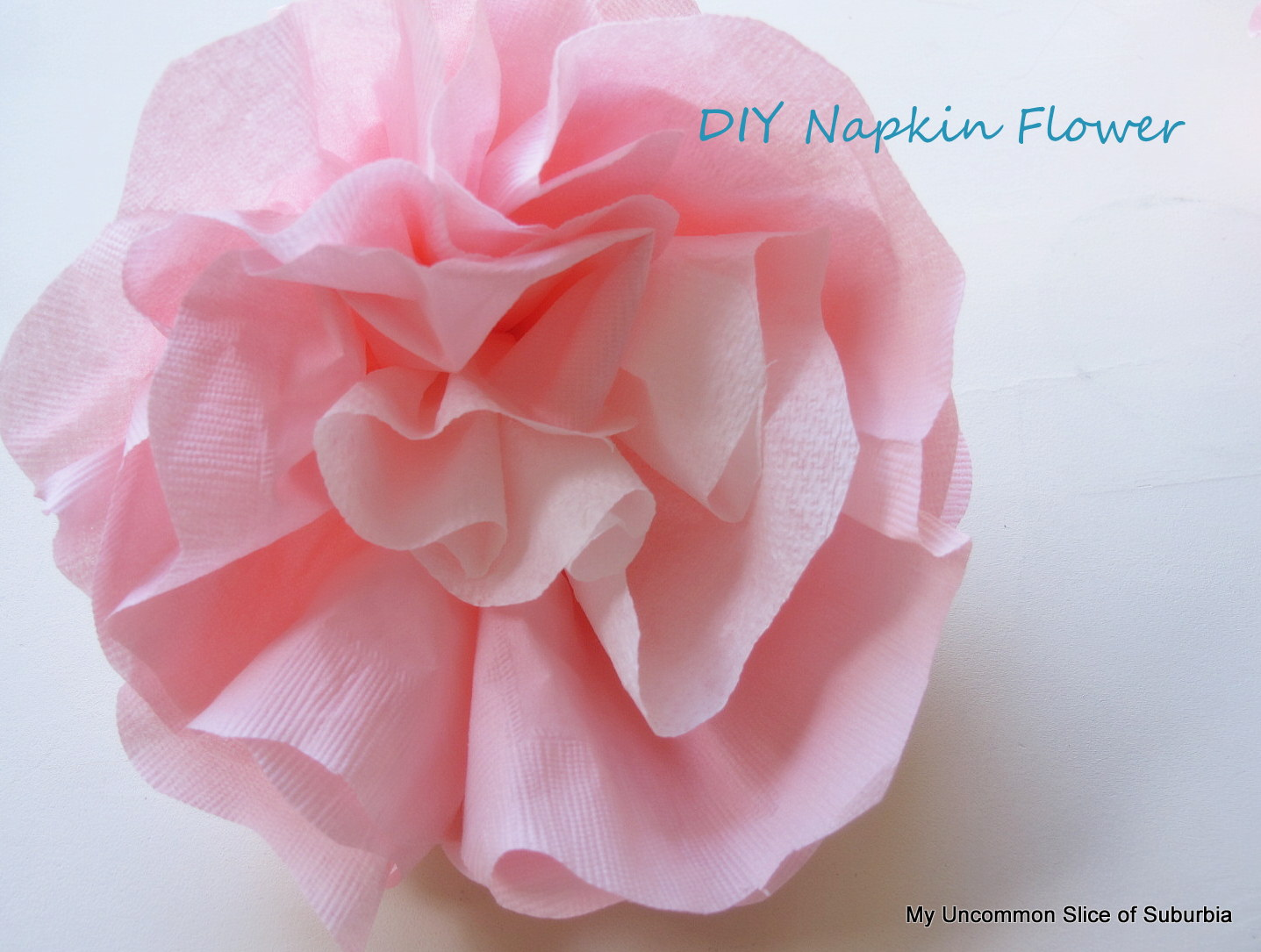 Paper napkin flowerstutorial buy some colorful napkins in different sizes i found mine at the dollar store mightylinksfo