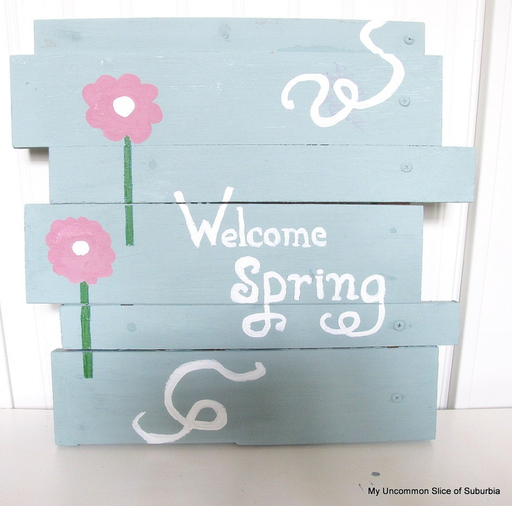 Learn how to make a scrapwood sign for spring!