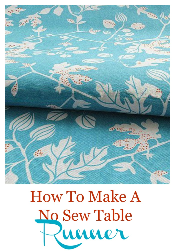 How to make a no sew table runner