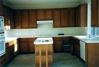 kitchen before they completed renovated it on a huge budget