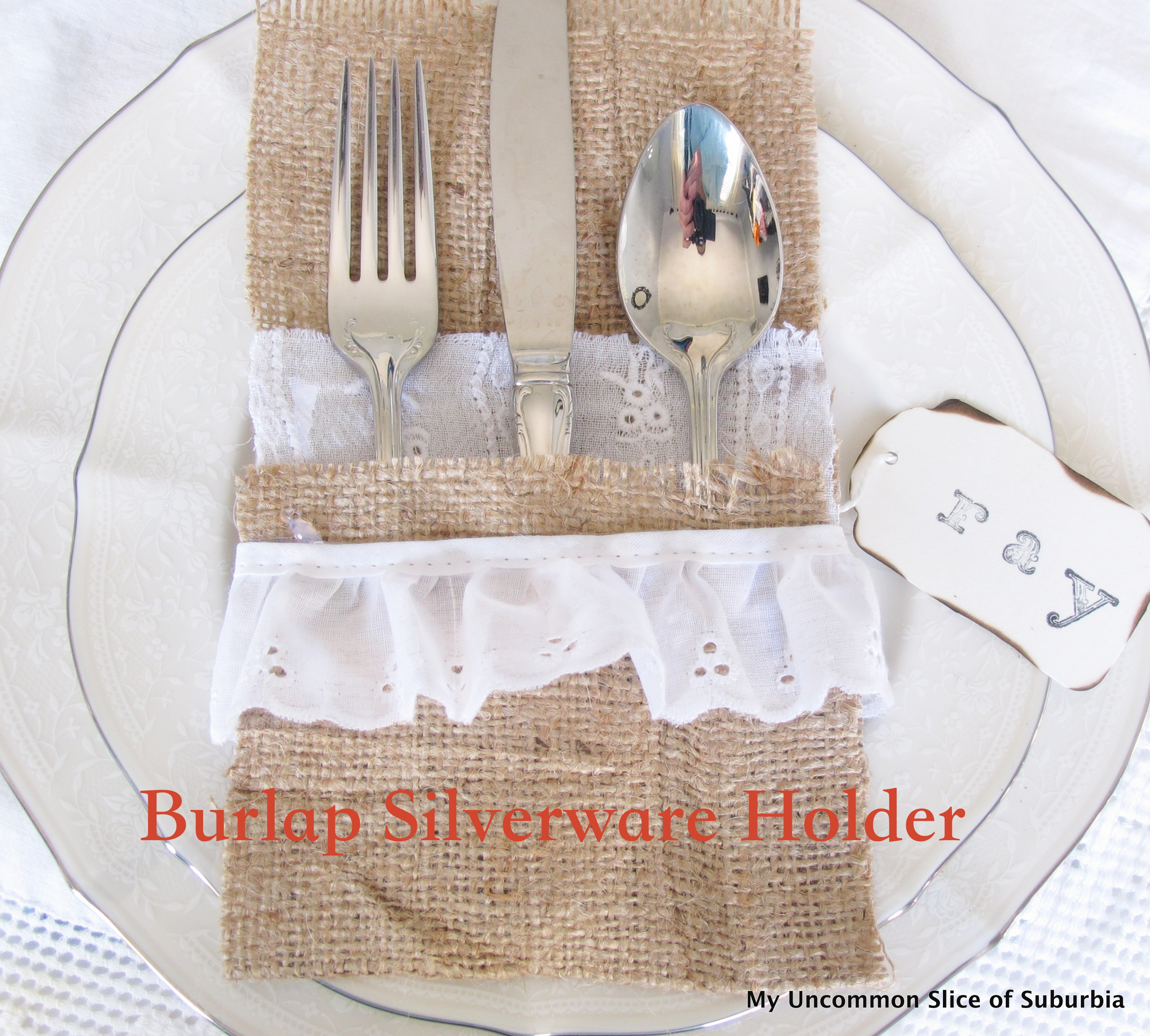 Burlap Silverware Holders