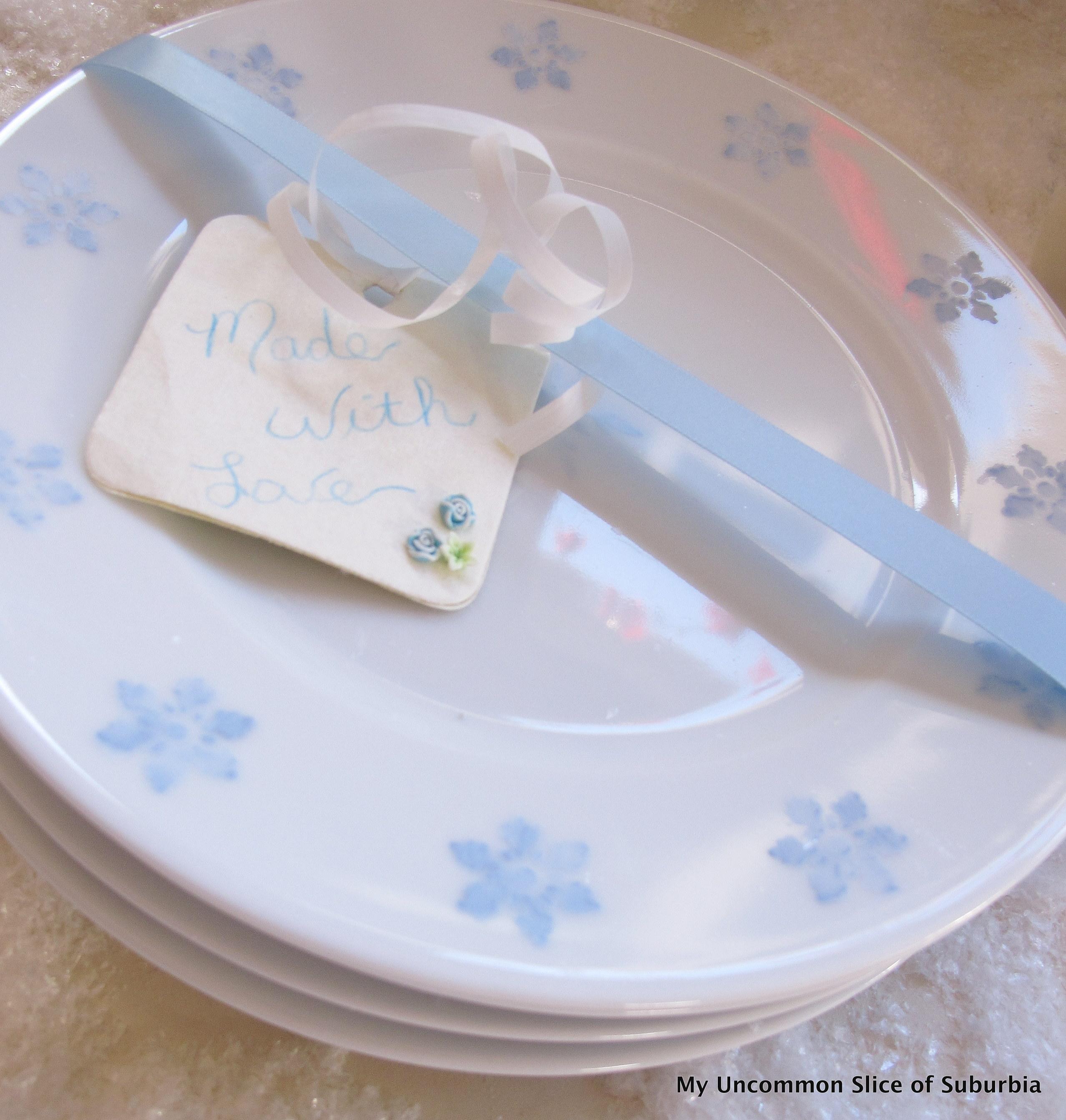 DIY Painted Snowflake Plate