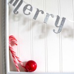 How to create Christmas lettered garland
