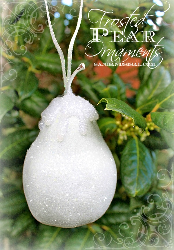 Frosted Pear Ornaments - Sandandsisal.com