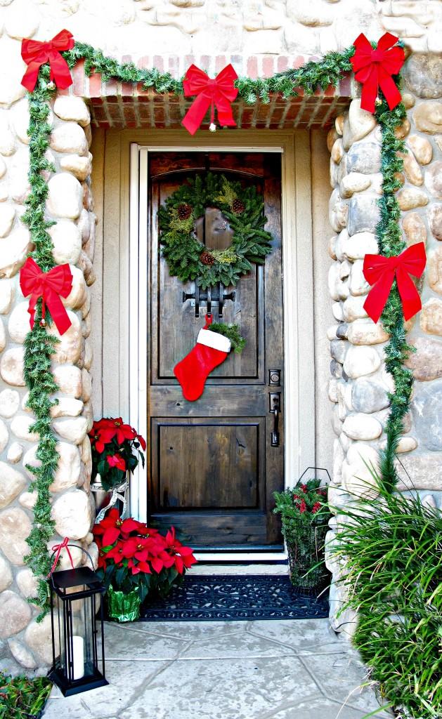 front door for Christmas