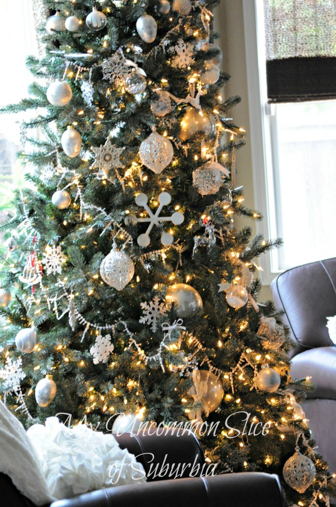 now - Silver And White Christmas Tree