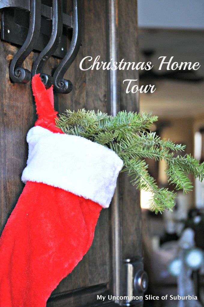 Christmas Home Tour Red and Green Door