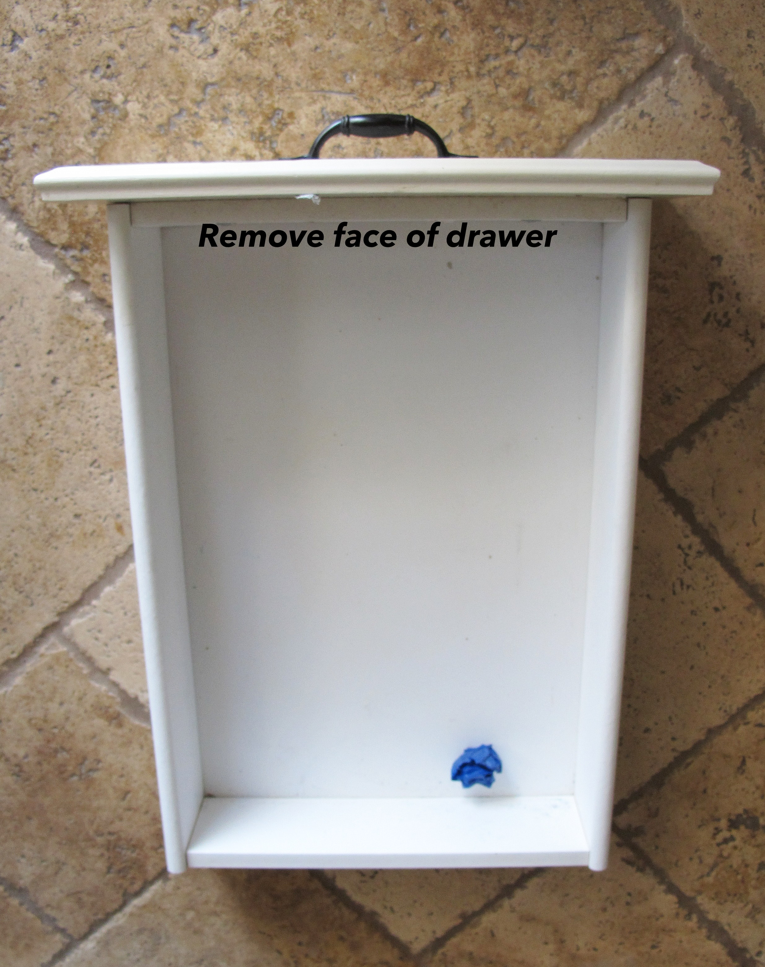 Turn a drawer and a door into a pull out trash ca & Turn a door and a drawer into a pull out trash can Pezcame.Com