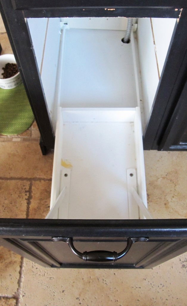 Turn A Door And A Drawer Into A Pull Out Trash Can
