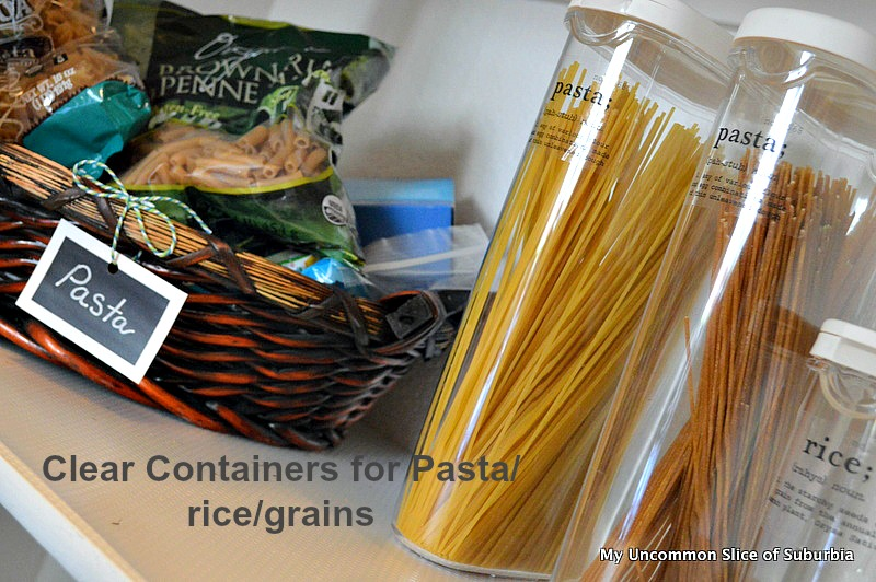 Clear containers for grain and rice