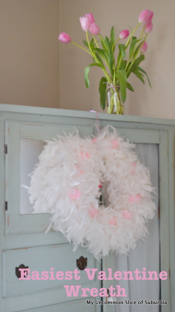 Easiest Valentine Wreath