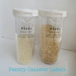 Pantry Canister Labels