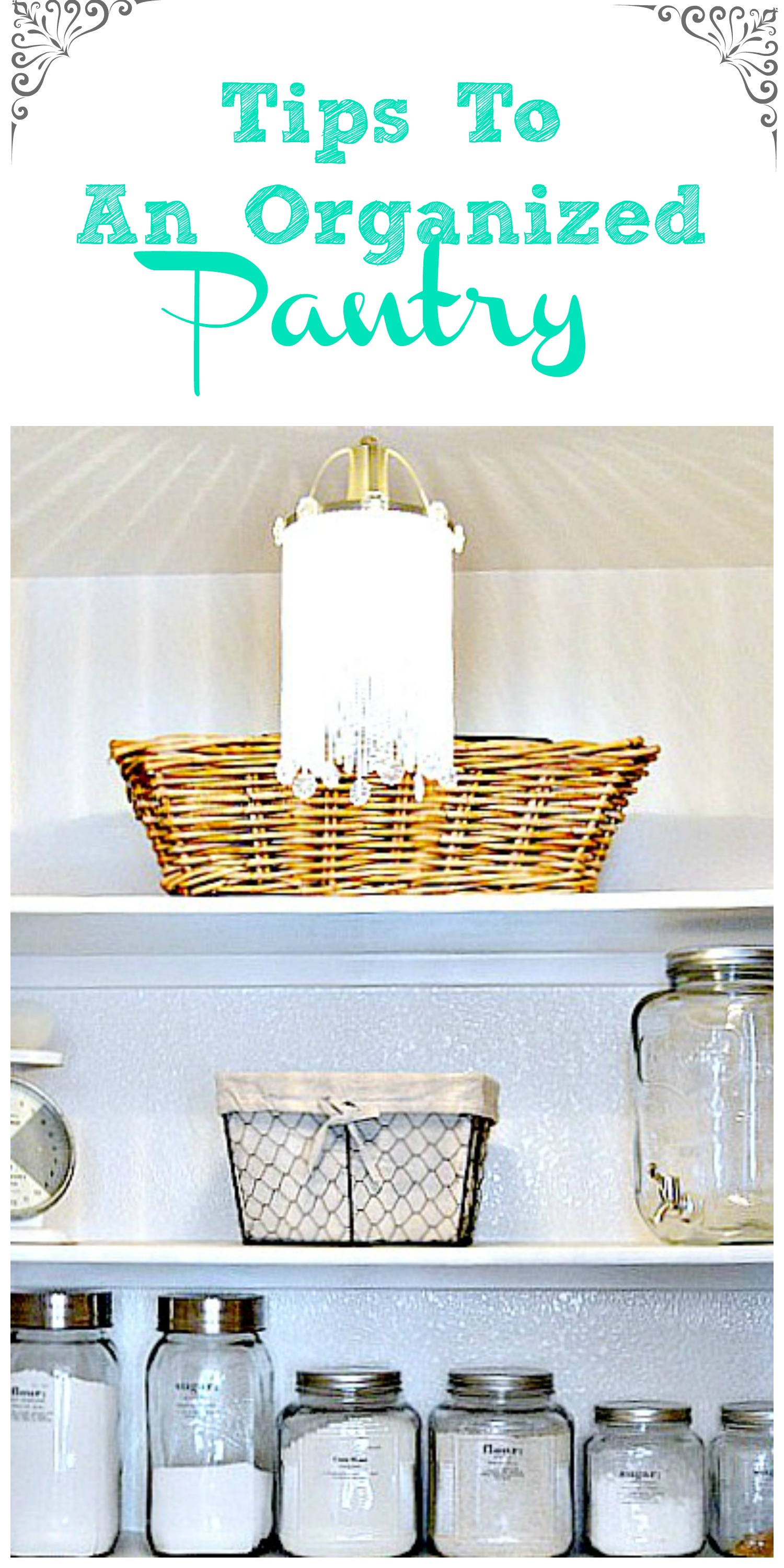 How to organize the pantry, great tips!