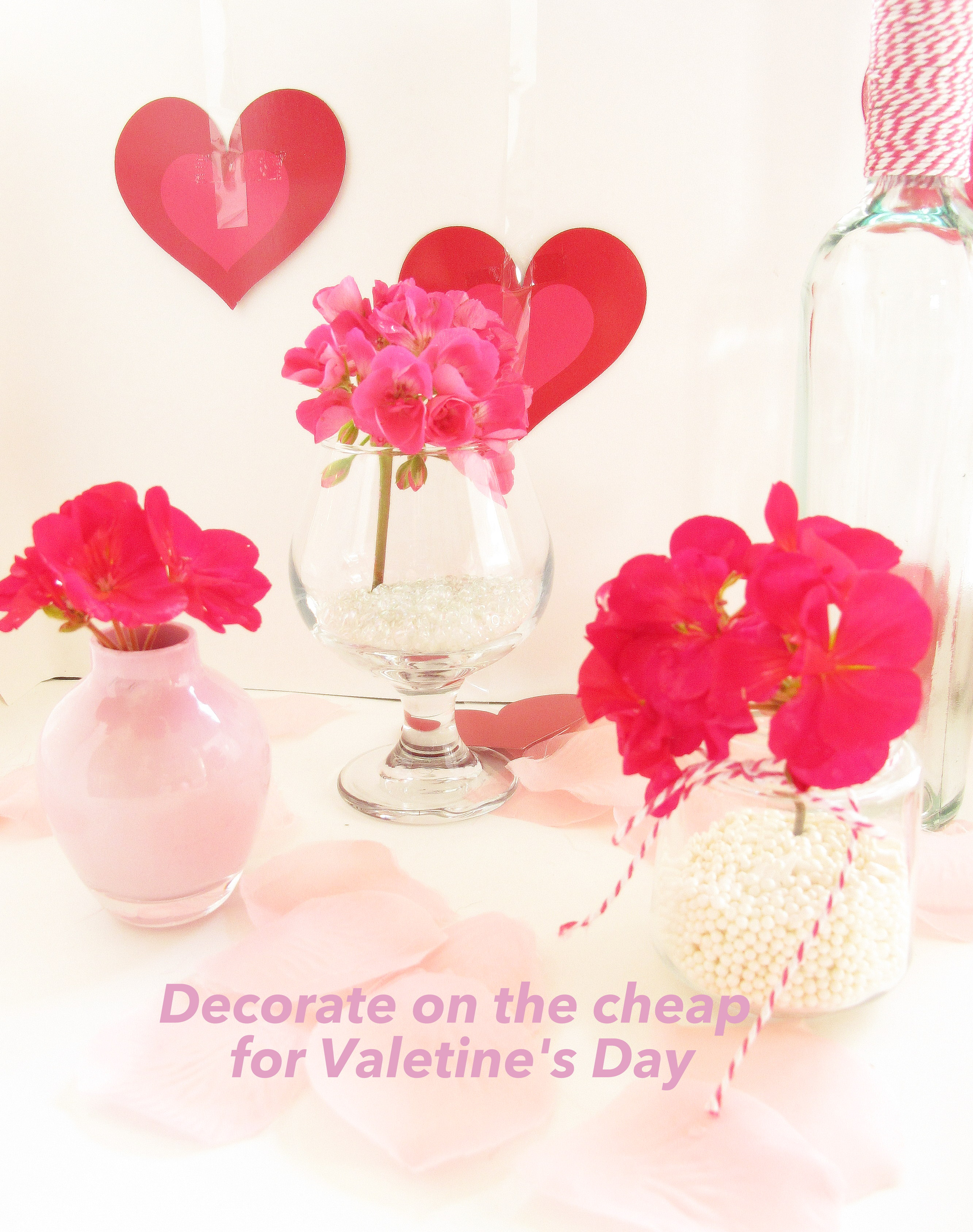 Decorate For Valentines Day On The Cheap