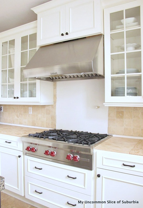 Stove white kitchen
