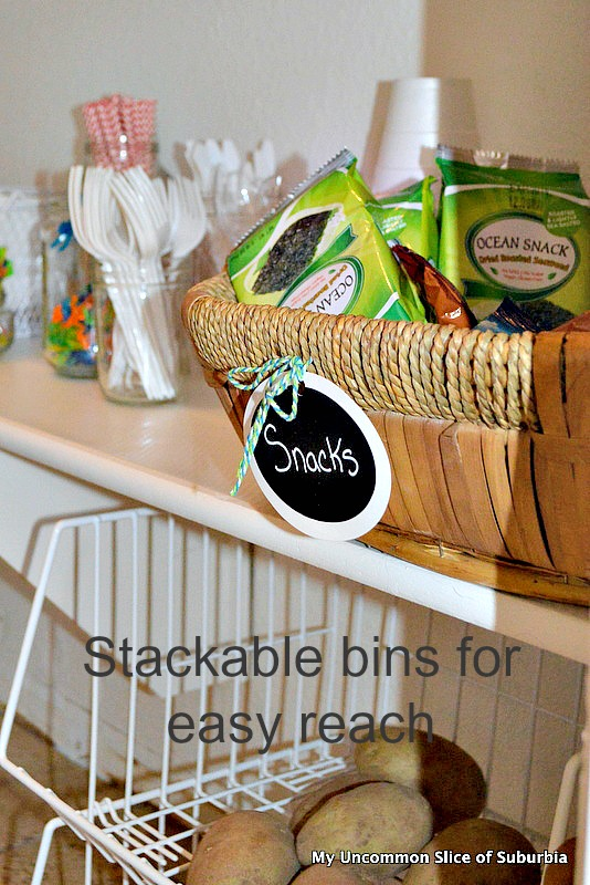 stackable bins for pantry