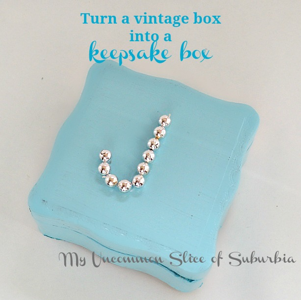 Turn a vintage box into a keepsake box