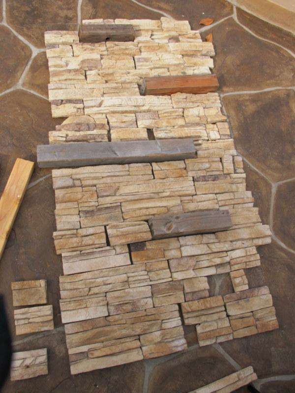 DIY Installing faux stone indoorsMy Uncommon Slice of Suburbia
