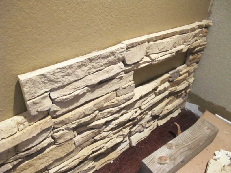 Diy Installing Faux Stone Indoors