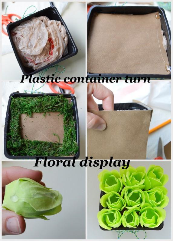 DIY Modern Rose Display