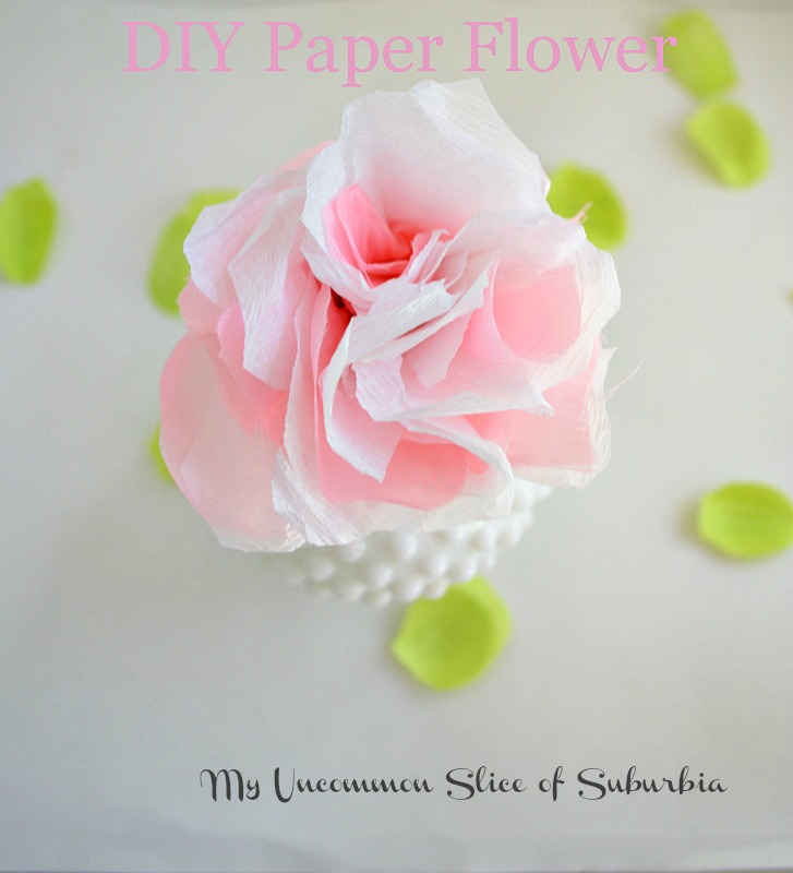 Simple diy paper flowers paper flower diy mightylinksfo