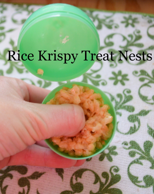 Rice Krispy Treat nests