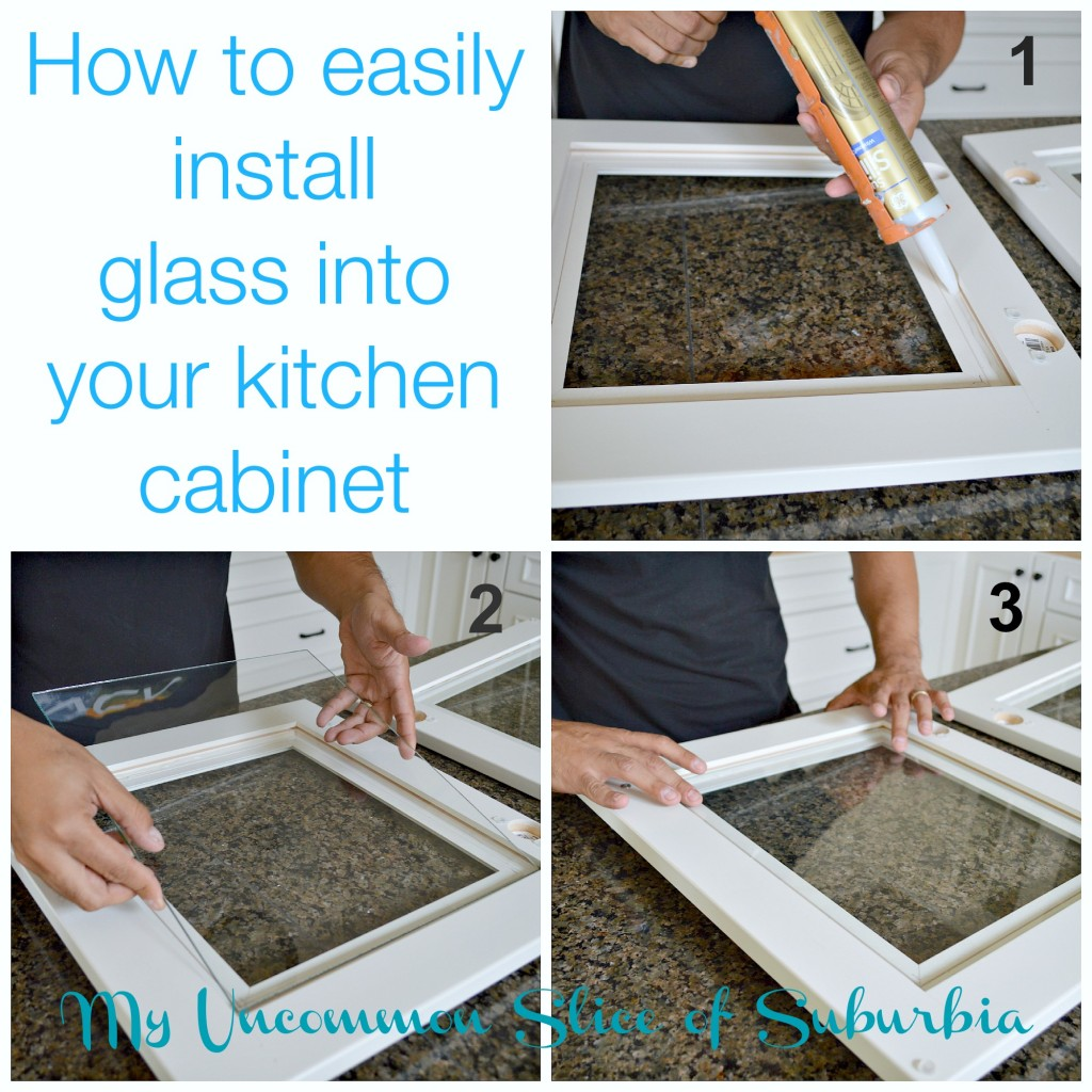 install glass into your kitchen cabinet