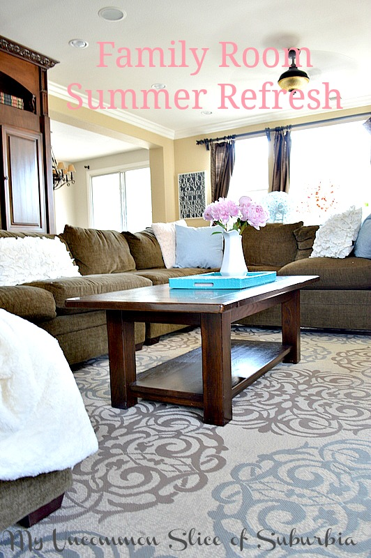 Summer Decorating In The Family Room My Uncommon Slice