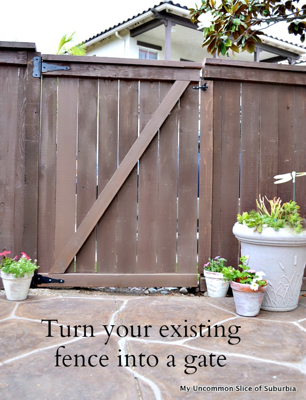 Turn your existing fence into a gate, step by step tutorial