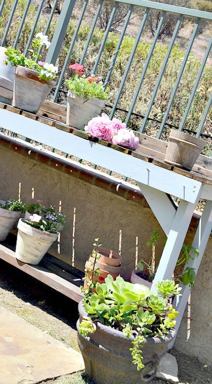 Two Tone Gardening Bench