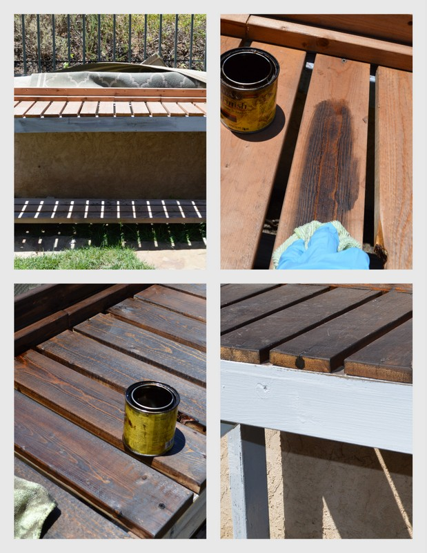 how to make a gardening bench
