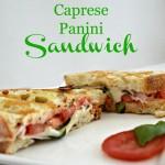 Italian caprese panini