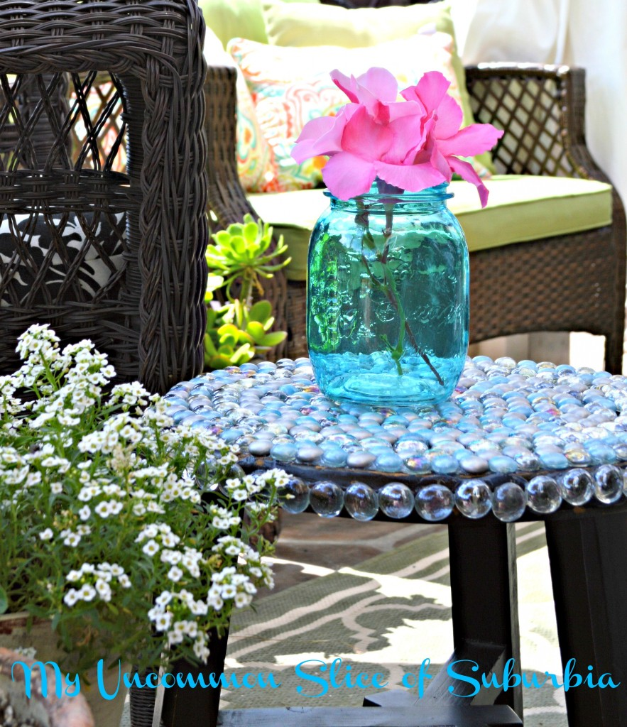 DIY Glass table using gems