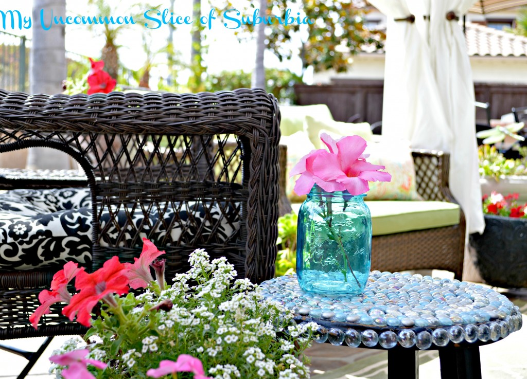 DIY Glass side table