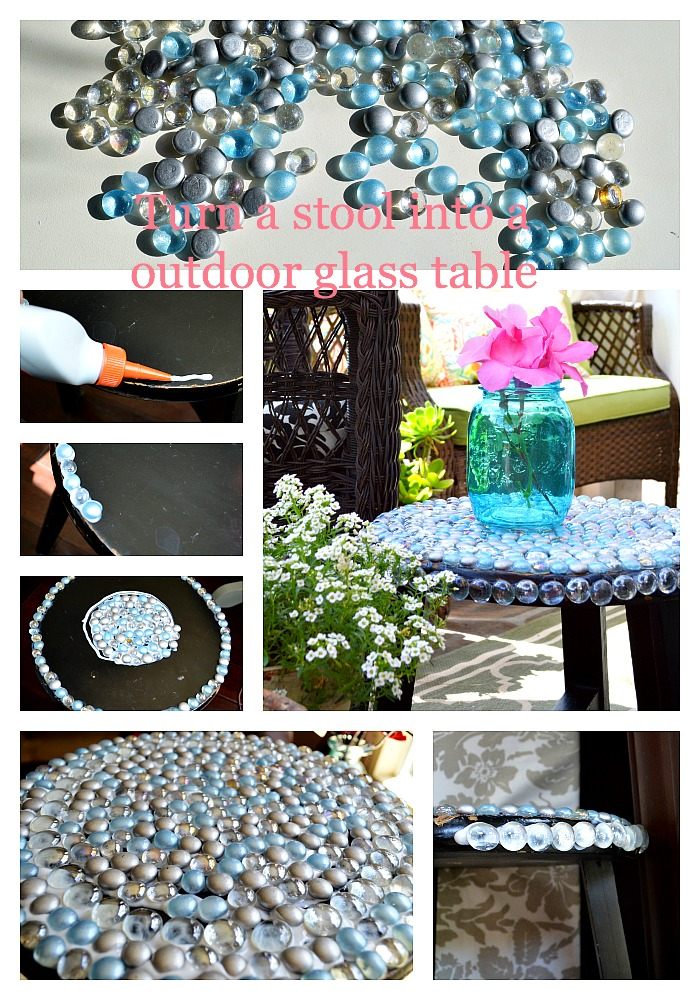Outdoor Glass table DIY