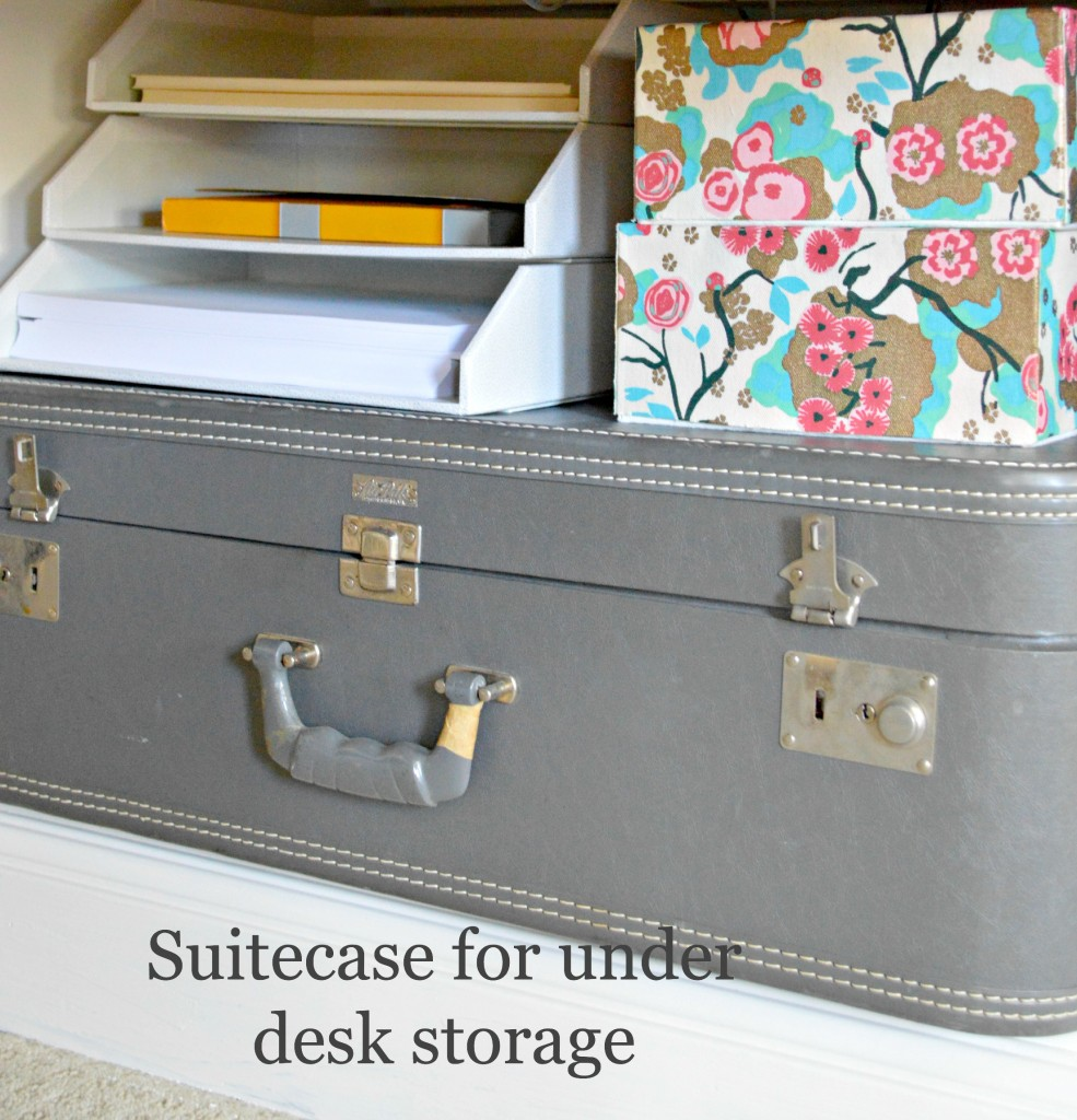 suitcase for under the desk storage