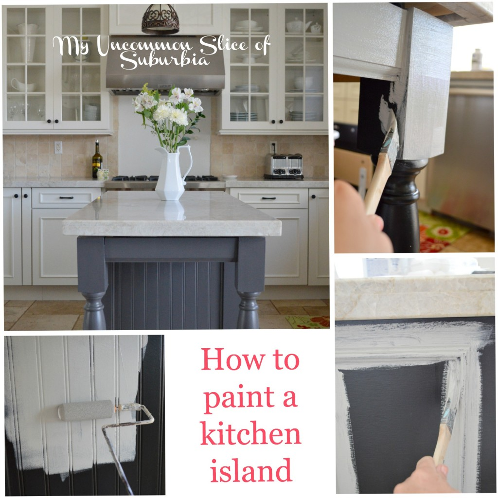 How to paint a kitchen island